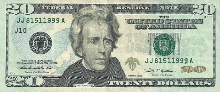 2009 20 Dollar Bill