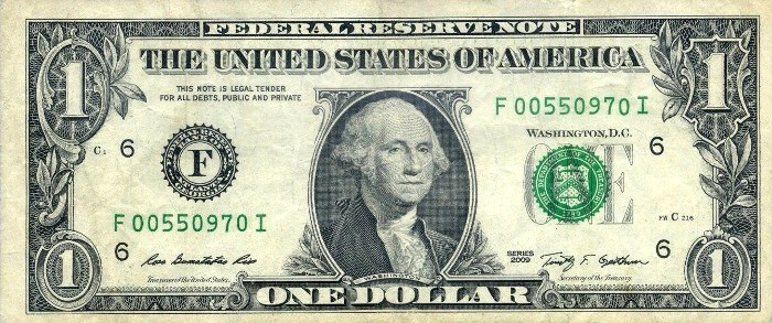 2009 One Dollar Bill
