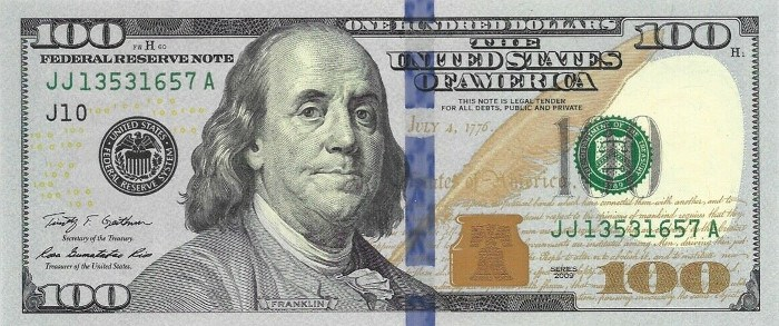 2009 Series 100 Dollar Bill