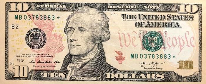 2013 10 Dollar Bill