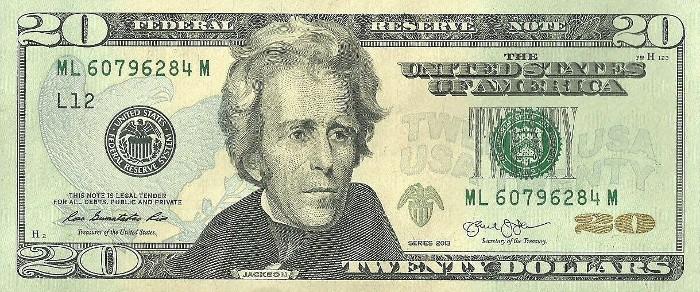 2013 20 Dollar Bill