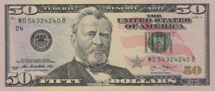 2013 50 Dollar Bill