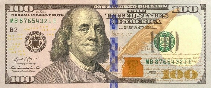 2013 Series 100 Dollar Bill