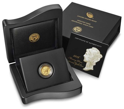 2016 Mercury Gold Dime Box