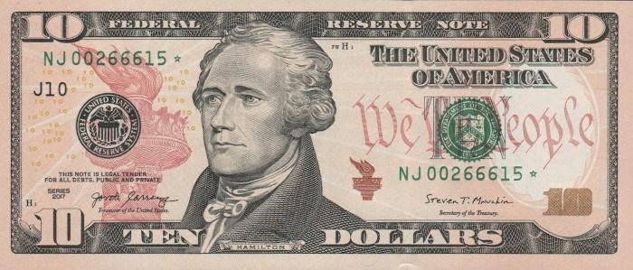 2017 10 Dollar Bill