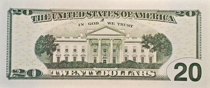 2017 20 Dollar Bill Reverse