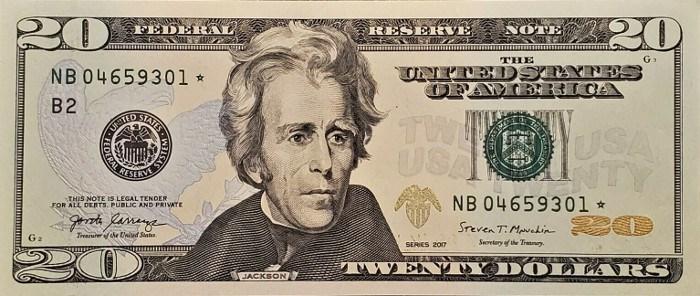 2017 20 Dollar Bill