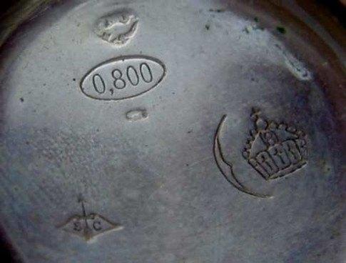 800 Silver Marking