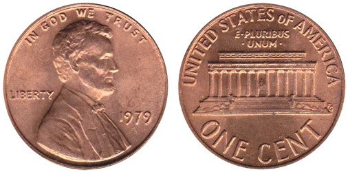 Lincoln Memorial Copper Cent