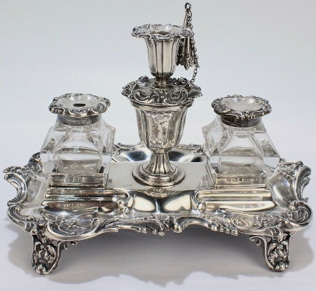 Silver Inkstand