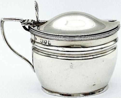Silver Mustard Pot