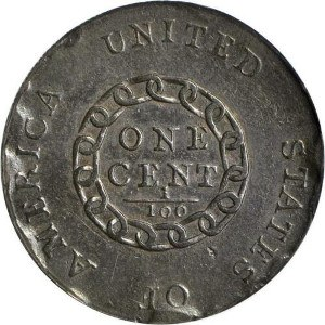 1793 Chain Cent Reverse