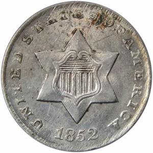 1852 3 Cent Coin