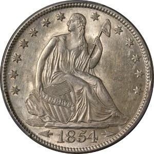 1854 Half Dollar