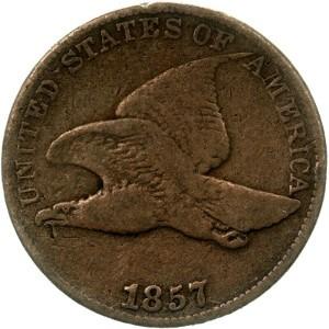 1857 Flying Eagle Penny