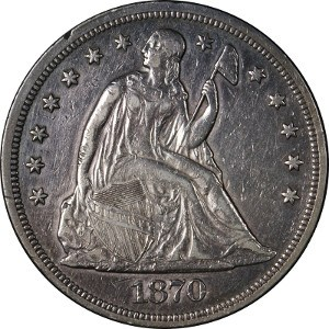 1870 Silver Dollar
