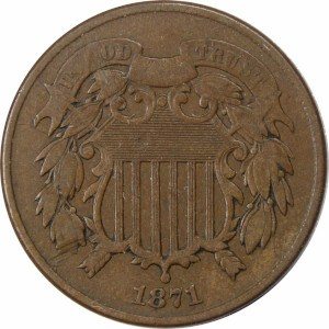 1871 2 Cent Coin