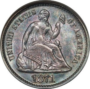 1871 Half Dime