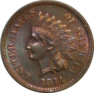 1871 Indian Head Penny