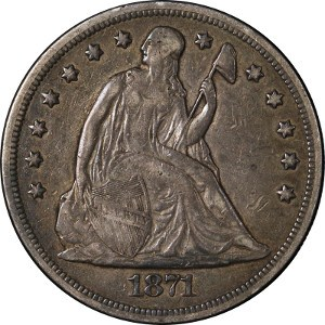 1871 Silver Dollar