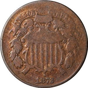 1872 2 Cent Coin