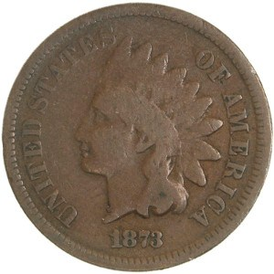 1873 Indian Head Penny