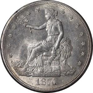 1874 Trade Dollar