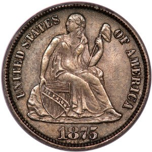 1875 Dime