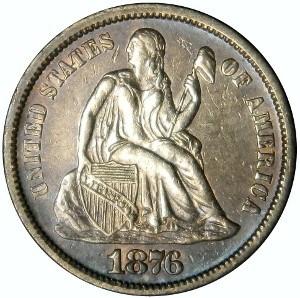 1876 Dime
