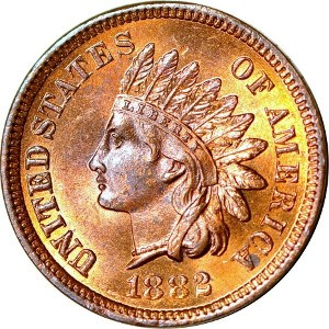 1882 Indian Head Penny