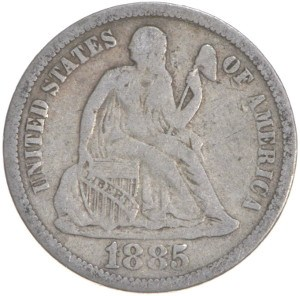 1885 Dime