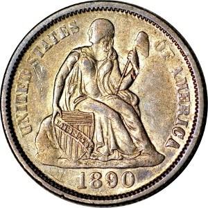 1890 Dime