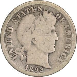 1892 Dime