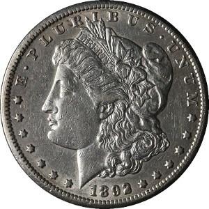 1892 Silver Dollar