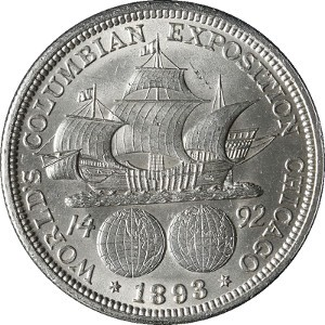 1893 Columbian Half Dollar Reverse