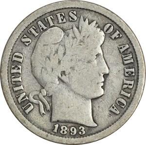 1893 Dime
