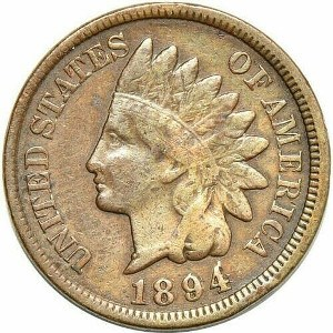 1894 Indian Head Penny