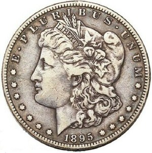 1895 Silver Dollar