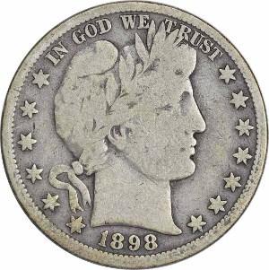 1898 Half Dollar