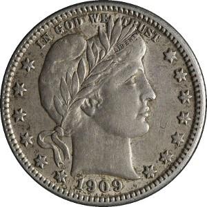 1909 Quarter