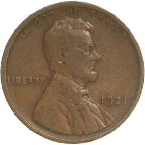 1921 Wheat Penny