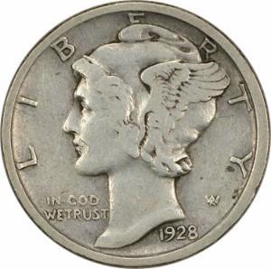 1928 Dime