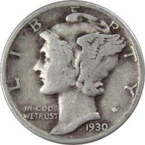 1930 Dime