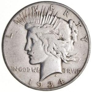 1934 Silver Dollar