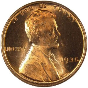1935 Wheat Penny