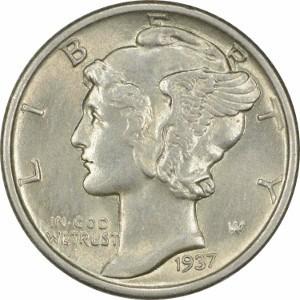 1937 Dime