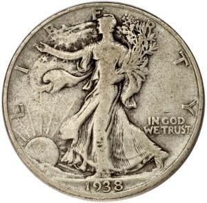 1938 Half Dollar