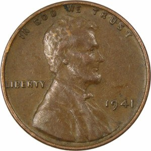 1941 Wheat Penny