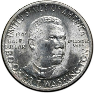 1946 Booker T Washington Half Dollar