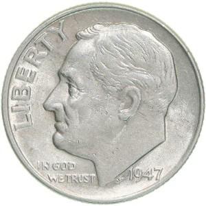 1947 Dime